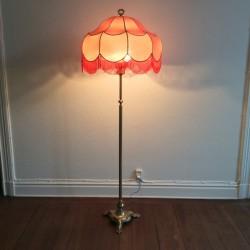 Rosa golvlampa/SÅLD